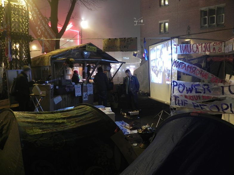 'Occupy Information' at Occupy Amsterdam