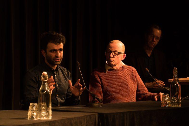 Refugee on Trial' performance art. Pakhuis de zwijger amsterdam. Ehsan Fardjadniya